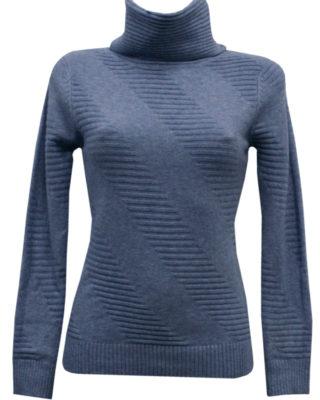 Maglione girocollo colore blu