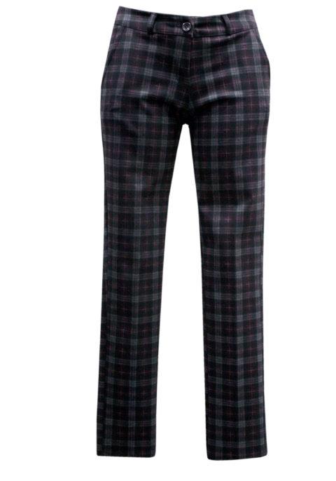 Con Tasca Scozzese Bordeaux Colore Pantalone 4q1ZwxR4