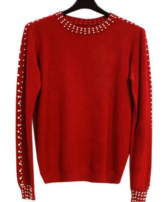maglione con perline